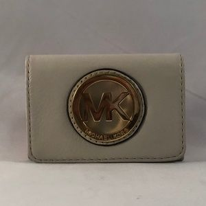 Michael Kors Fulton Leather Card Case Wallet (NEW)